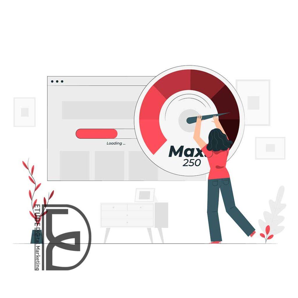 تاثیر سرعت وب سایت بر بهینه سازی وب سایت در مشهد
