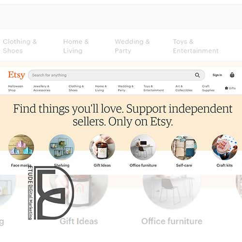 etsy  چهارمین فروشگاه اینترنتی جهان